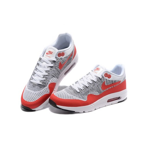 Men's Nike Air Max 87 Red Grey White Black Running Shoes