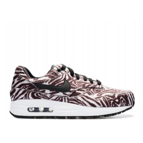 Women's Nike Air Max 1 Zoo Pack Zebra Black White 827657-100