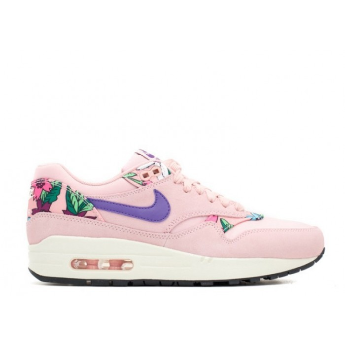 Women's Nike Air Max 1 Print Aloha Pack Pink Glaze Varsity Purple