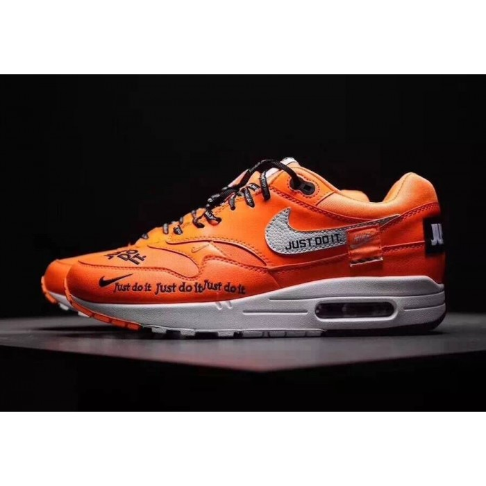 Women's Nike Air Max 1 87 Just Do it Orange Black White