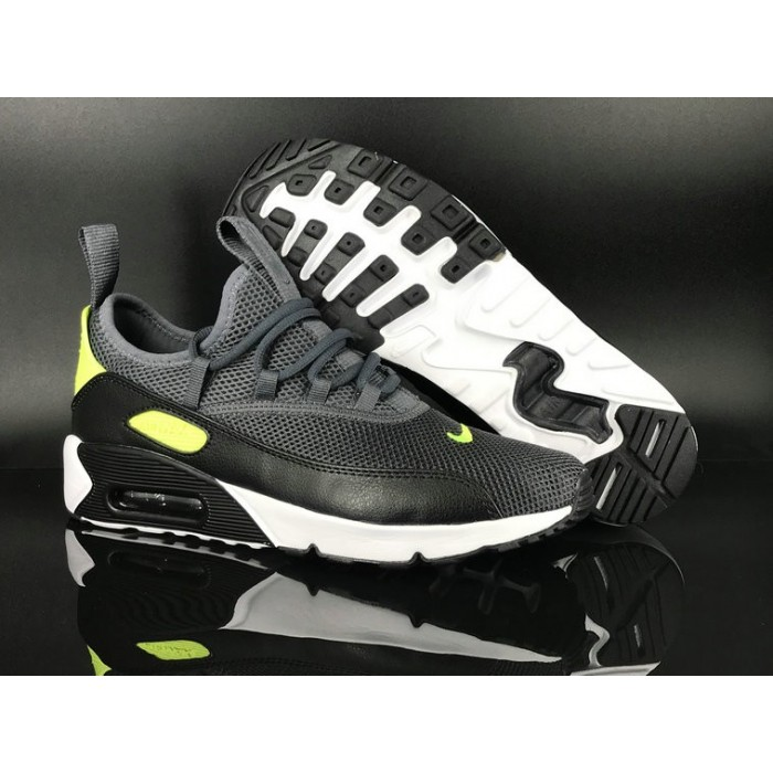 Men's 2018 Nike Air Max 90 EZ Black Green White Sale
