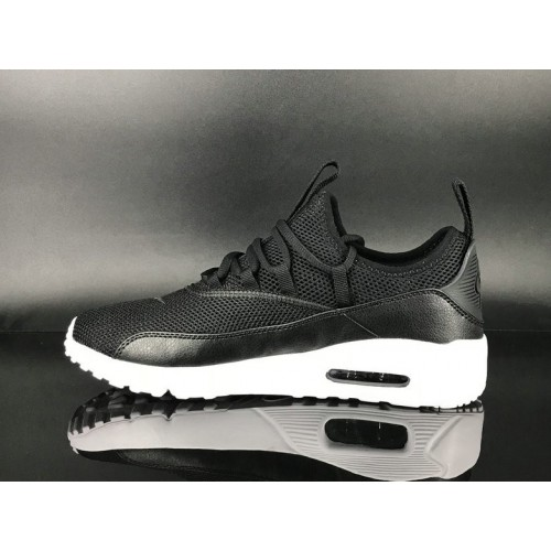 Men's 2018 Nike Air Max 90 EZ Black White Sale