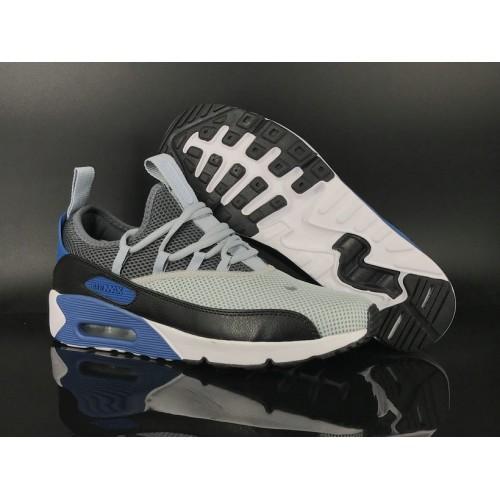Men's 2018 Nike Air Max 90 EZ Grey Black Blue White Sale