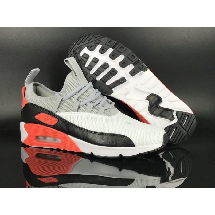 Men's 2018 Nike Air Max 90 EZ Grey Black Red White Sale