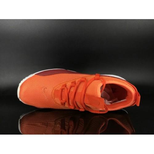 Men's 2018 Nike Air Max 90 EZ Orange Deep Red White Sale