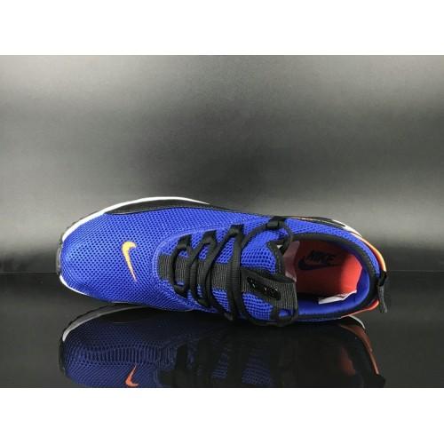 Men's 2018 Nike Air Max 90 EZ Royal Blue Orange Black White