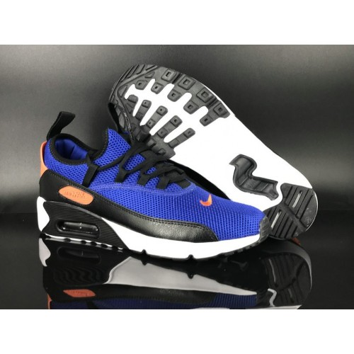 Men's 2018 Nike Air Max 90 EZ Royal Blue Orange Black White