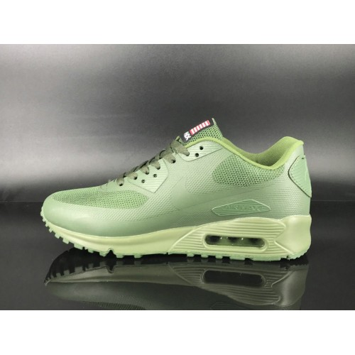 Men's 2018 Nike Air Max 90 Hyperfuse Sneaker Boot Apple Green