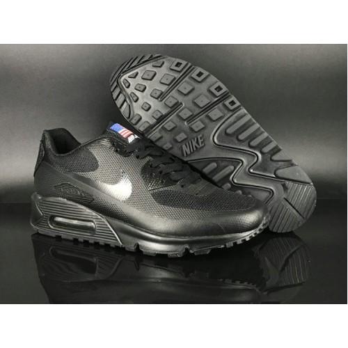 Men's 2018 Nike Air Max 90 Hyperfuse Sneaker Boot Black
