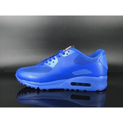 Men's 2018 Nike Air Max 90 Hyperfuse Sneaker Boot Blue Sale