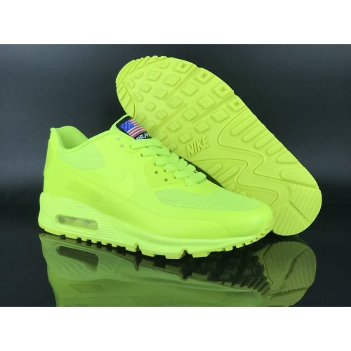 Men's 2018 Nike Air Max 90 Hyperfuse Sneaker Boot Green Sale