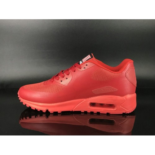 Men's 2018 Nike Air Max 90 Hyperfuse Sneaker Boot Red Sale