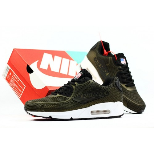 Men's 2018 Nike Air Max 90 Sneaker Boot Army Green Black White