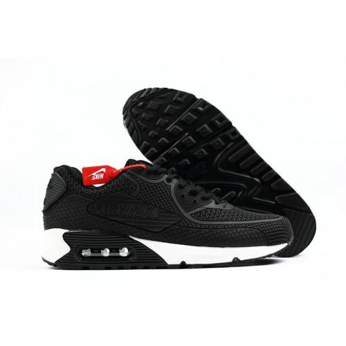 Men's 2018 Nike Air Max 90 Sneaker Boot Black White Sale
