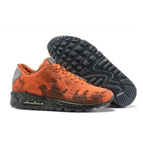 Men's 2019 Nike Air Max 90 Mars Landing Team Orange Grey Black