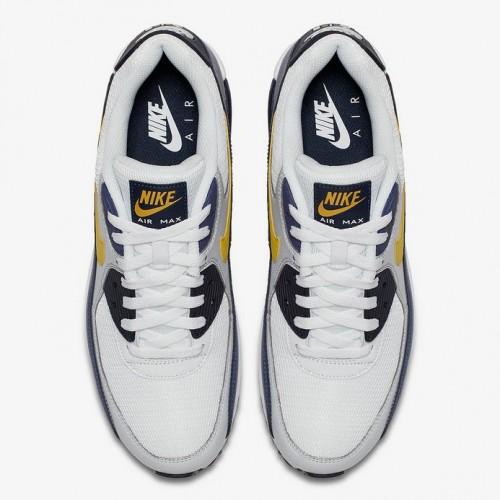 Men's 2019 Nike Air Max 90 Michigan AJ1285-101