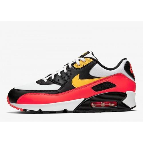 Men's 2019 Nike Air Max 90 Red Yellow Black White