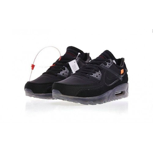 Men's 2019 Nike Air Max 90 x Off White Black Air Cushion