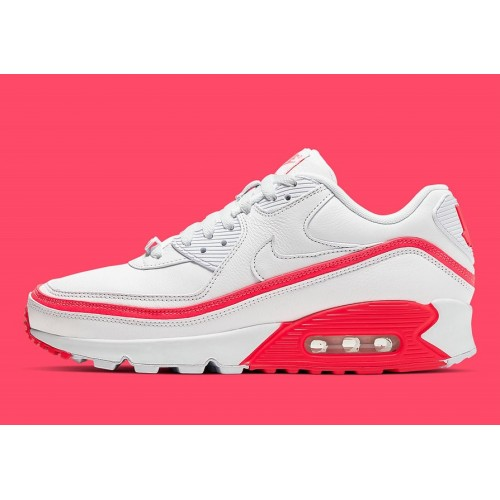 Men's 2019 UNDEFEATED x Nike Air Max 90 White Solar Red