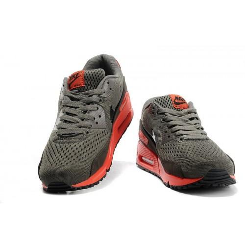 Men's Nike Air Max 90 Black Grey Red