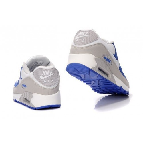 Men's Nike Air Max 90 Shoe In Blue Grey White Outlet