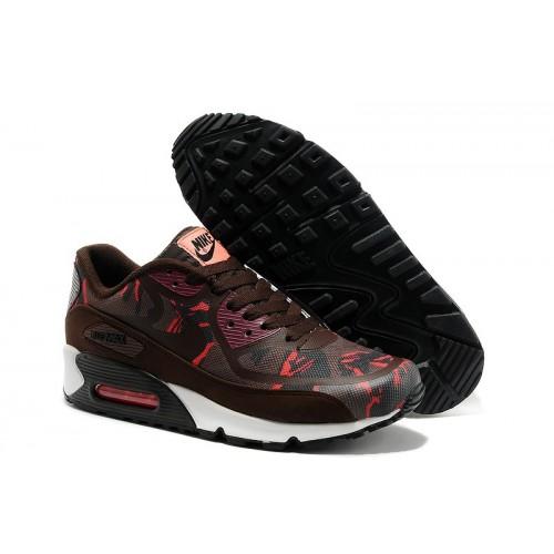 Men's Nike Air Max 90 Brown Red Black