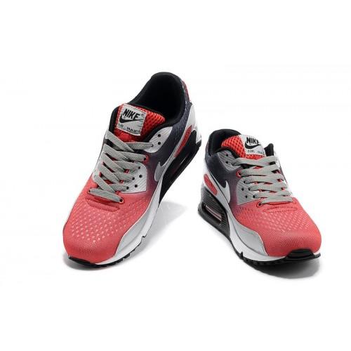 Men's Nike Air Max 90 Grey Black Red White