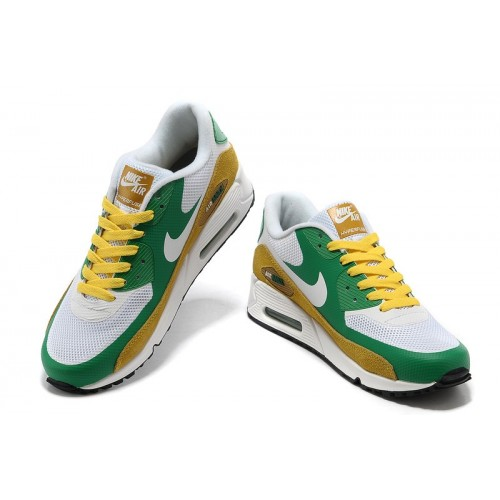 Men's Nike Air Max 90 Hyperfuse Green Black White Yellow