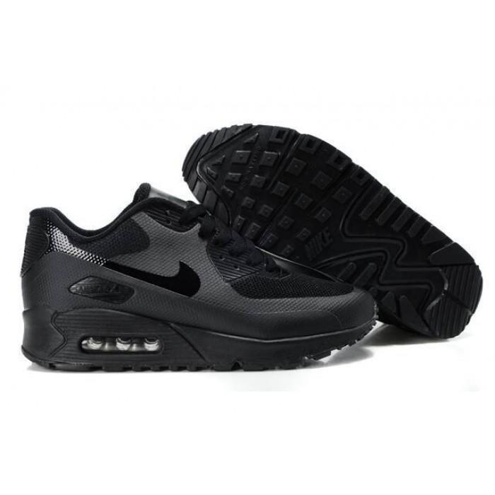 Men's Nike Air Max 90 Hyperfuse Premium Shoe In Black