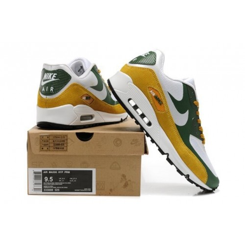 Men's Nike Air Max 90 Hyperfuse Premium Black Yellow Green White