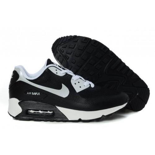 Men's Nike Air Max 90 Hyperfuse Premium Shoe Grey White Black