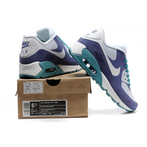 Women's Nike Air Max 90 Hyperfuse Blue White Purple