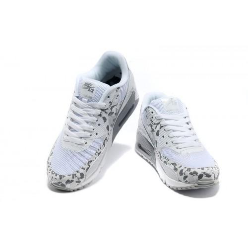 Women's Nike Air Max 90 Hyperfuse Grey White