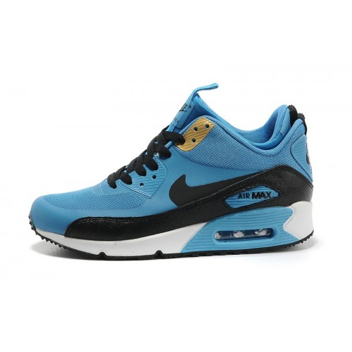 Men's Nike Air Max 90 Mid Men Blue Black