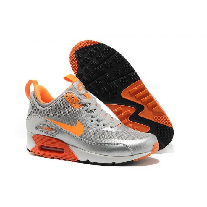 Men's Nike Air Max 90 Mid Men Orange Grey Black