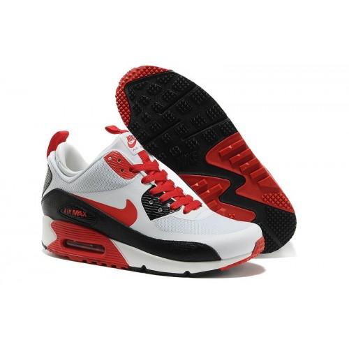 Men's Nike Air Max 90 Mid Men Red White Black