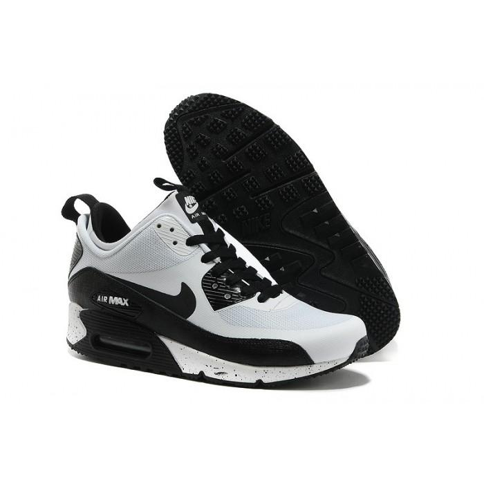 Men's Nike Air Max 90 Mid Men White Black