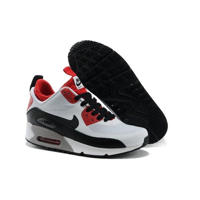 Women's Nike Air Max 90 Mid White Red Black