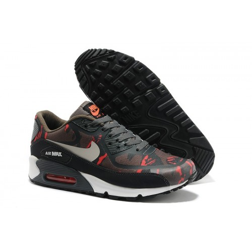 Men's Nike Air Max 90 Shoe In Red Black White Online Sale