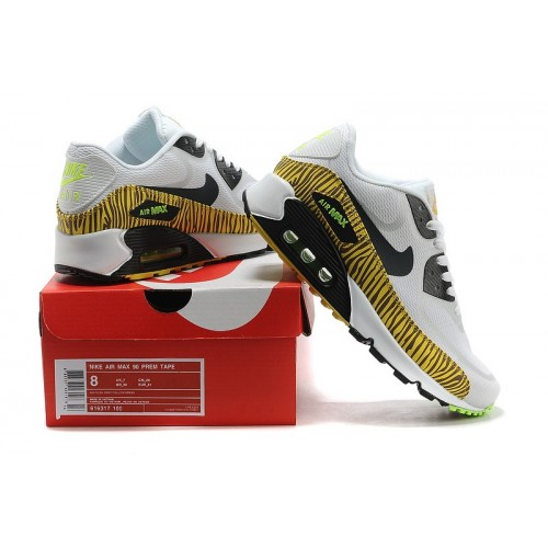 Men's Nike Air Max 90 Tape Yellow Black White