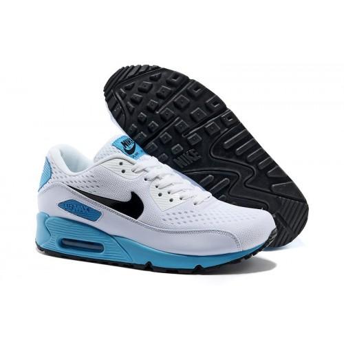 Men's Nike Air Max 90 White Blue Black