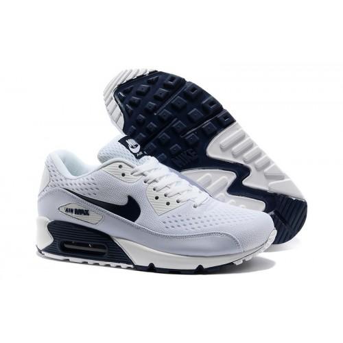Men's Nike Air Max 90 White Dark Blue White