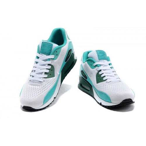 Women's Nike Air Max 90 Black White Blue