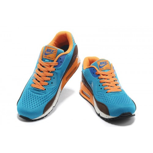 Women's Nike Air Max 90 Orange Blue White Brown