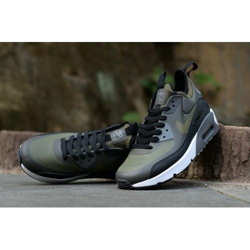 Men's Nike Air Max 90 Ultra Mid Winter SE Olive Green Black White