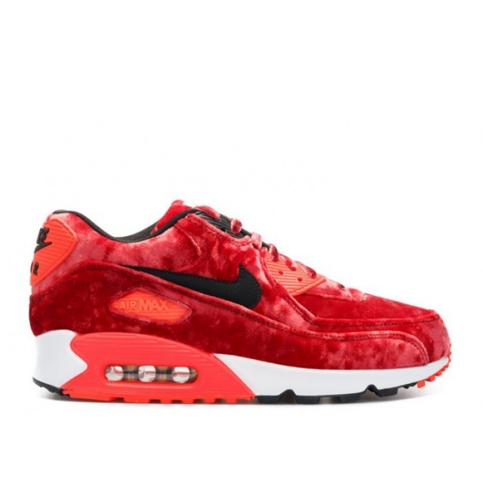 Men's Nike Air Max 90 25th Anniversary Red Velvet  Gym Red Black