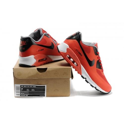 Men's Nike Air Max 90 Hyperfuse Orange Black White