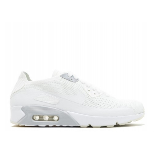 Men's Nike Air Max 90 Ultra 2.0 Flyknit Shoe 875943-101 White White