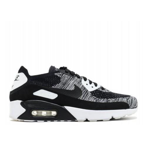 Men's Nike Air Max 90 Ultra 2.0 Flyknit Shoe Oreo 875943-001 Black