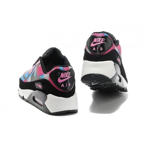 Women's Nike Air Max 90 Black Pink White Blue